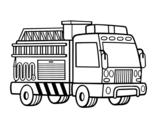 Dibujo de Un camión de bomberos para colorear