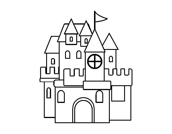 Dibujo de Un castillo para Colorear - Dibujos.net