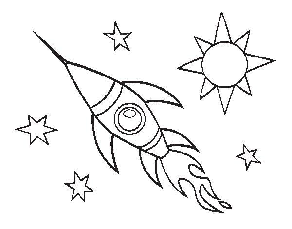 Dibujo de Un cohete aeroespacial para Colorear