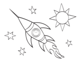 Dibujo de Un cohete aeroespacial