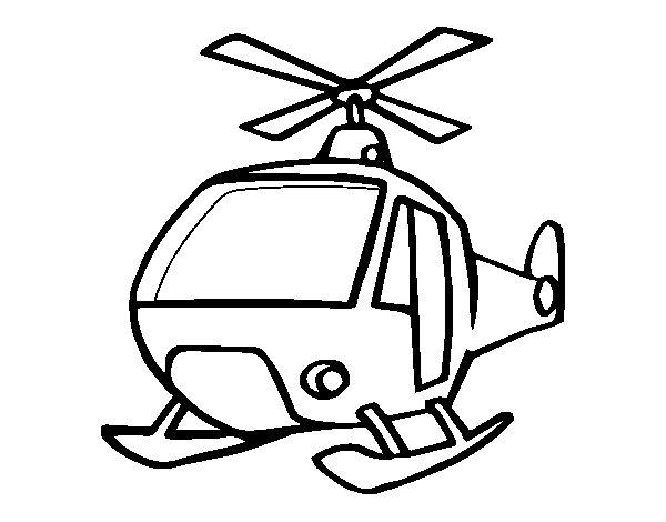Dibujo de Un Helicóptero para Colorear - Dibujos.net