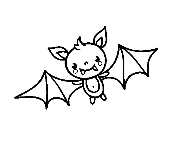 Halloween para colorear murcielago - Dibujos de halloween ...