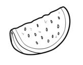 Dibujo de Un trozo de sandía para colorear