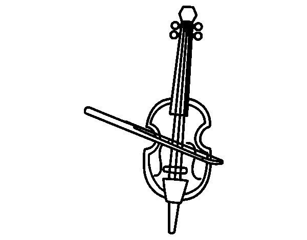 Dibujo de Un Violín para Colorear