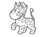 Dibujo de Una cebra africana para colorear