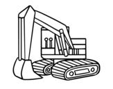 Dibujo de Una excavadora