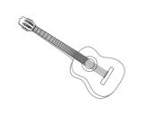 Dibujo de Una guitarra española para colorear