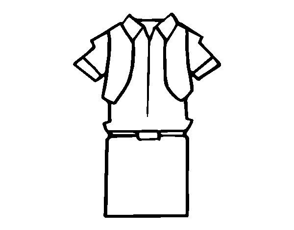 Uniforme Para Colorear Infantil