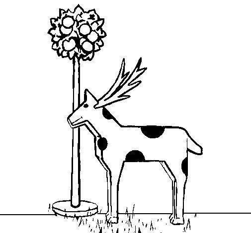 Dibujo de Vaca de cartón para Colorear