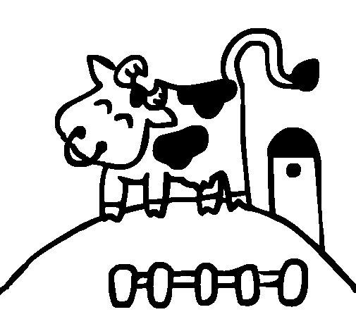 Dibujo de Vaca feliz para Colorear
