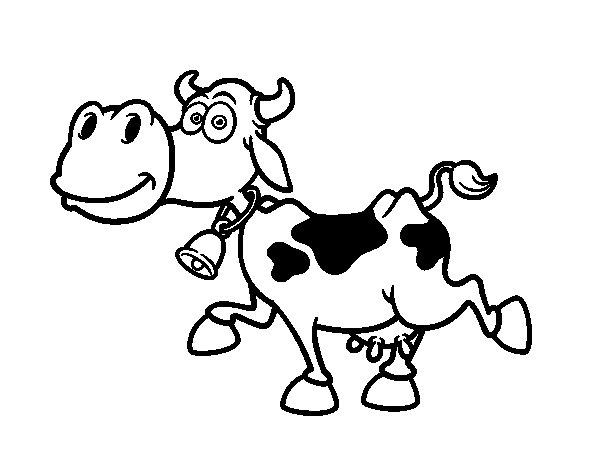 Dibujo de Vaca lechera 1 para Colorear - Dibujos.net