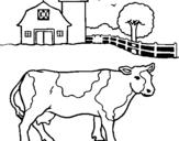 Dibujo de Vaca pasturando para colorear