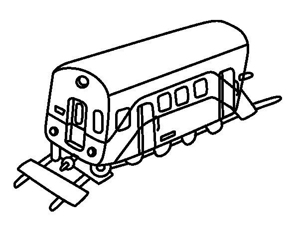 Dibujo de Vagón para Colorear
