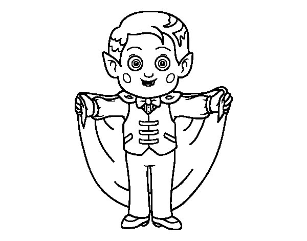 Dibujo de Vampiro Simpático  para Colorear