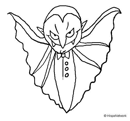 Dibujo de Vampiro terrorífico para Colorear