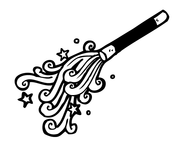 Dibujo de Varita de mago para Colorear  Dibujosnet