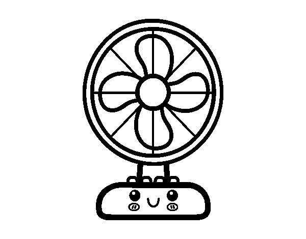Dibujo de Ventilador para Colorear