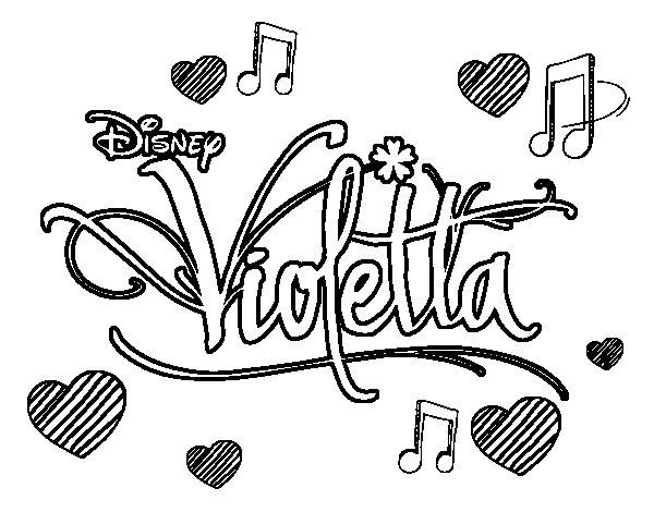 Dibujos Sin Colorear Dibujos De Violetta Disney Para: Violetta En Dibujo Animado Para Colorear