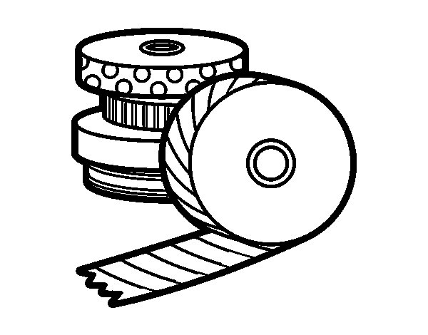 Dibujo de Washi Tape para Colorear