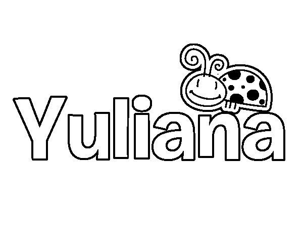 Dibujo de Yuliana para Colorear