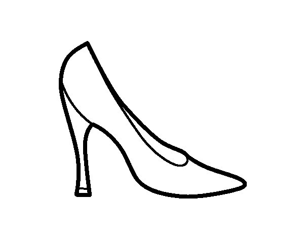 Dibujo de Zapato de tacón para Colorear