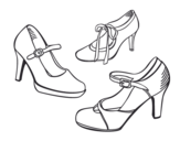 Dibujo de Zapatos de salón para colorear
