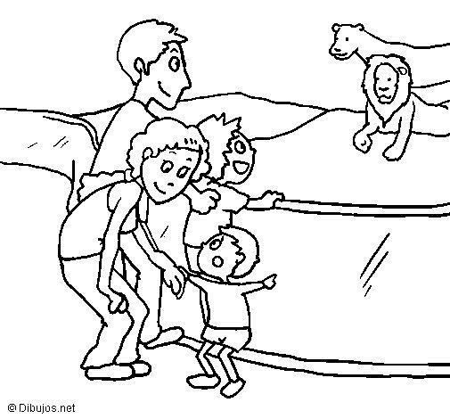 Dibujo de Zoo para Colorear
