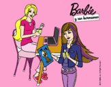Barbie y su hermana merendando