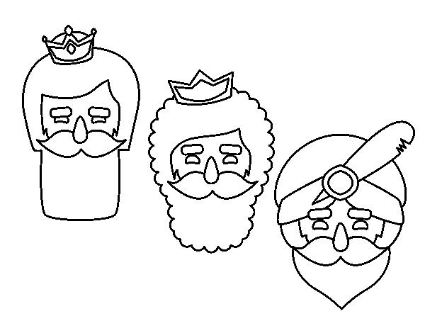 Dibujo De 3 Reyes Magos Para Colorear Dibujosnet