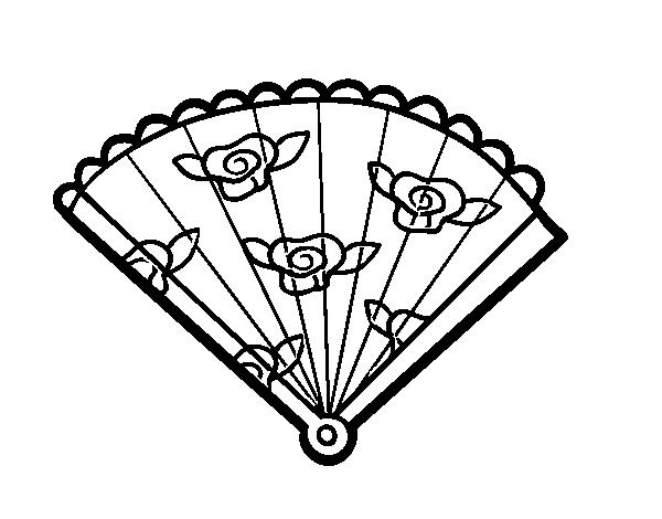 Dibujo de Abanico floral para Colorear   Dibujos.net