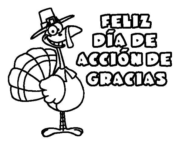 Dibujo de Acción de gracias para Colorear - Dibujos.net