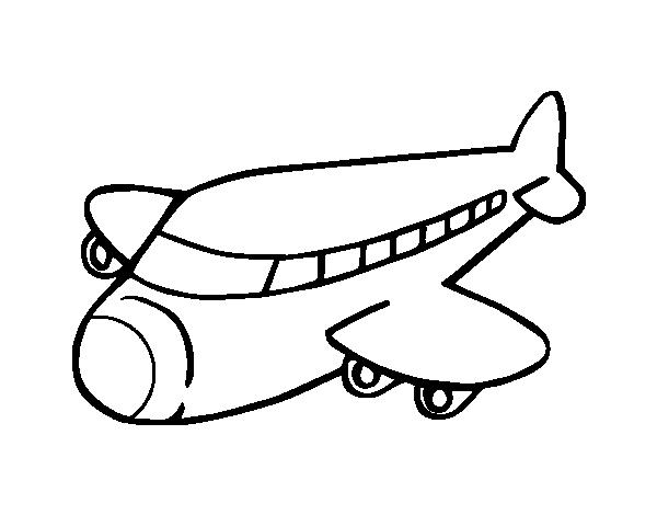 Dibujo de Avión boeing para Colorear - Dibujos.net