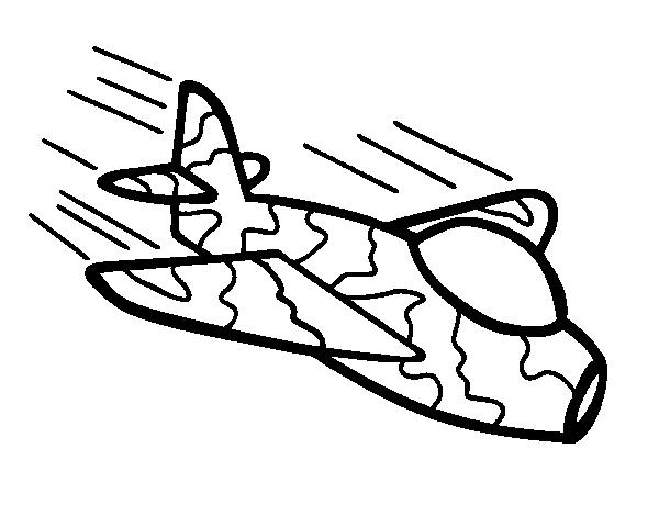 Dibujo de Avión de camuflaje para Colorear - Dibujos.net