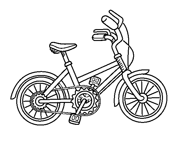 Dibujo De Bicicleta Para Niños Para Colorear Dibujosnet