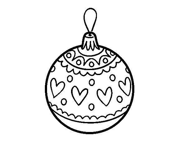 Dibujo de Bola de Navidad estampada para Colorear - Dibujos.net