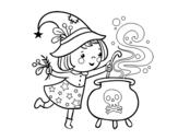 Dibujos De Brujas Para Colorear Dibujosnet