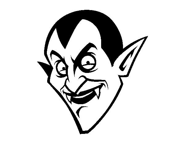 Dibujo de Cabeza de Conde Drácula para Colorear - Dibujos.net