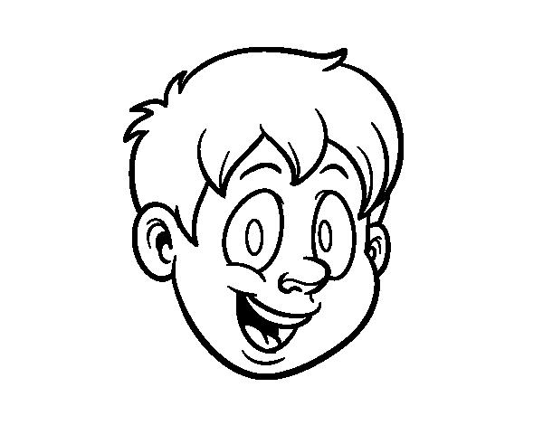 Dibujo de Cabeza humana para Colorear - Dibujos.net