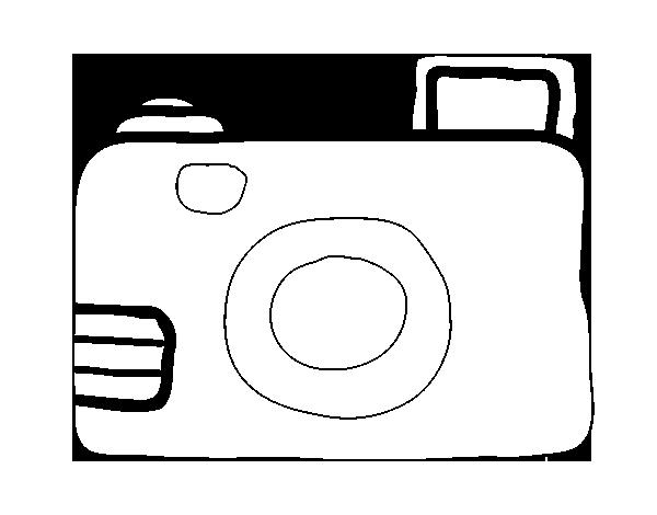 Dibujo De Cámara Réflex Para Colorear Dibujos Net