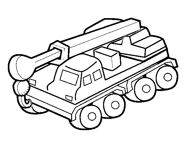 Dibujo de Camión grúa para Colorear - Dibujos.net