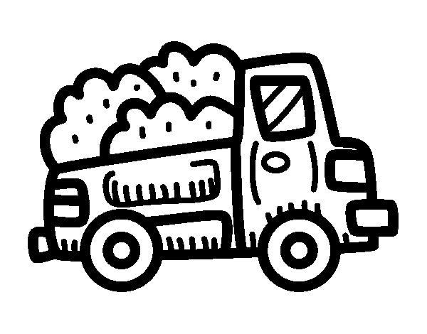 Dibujo de Camioneta de construcción para Colorear - Dibujos.net