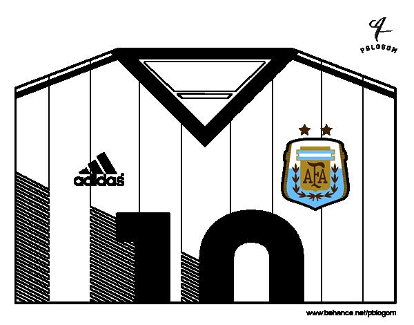 Dibujo de Camiseta del mundial de fútbol 2014 de Argentina para ...