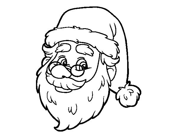 Dibujo De Cara De Santa Claus Para Colorear Dibujosnet