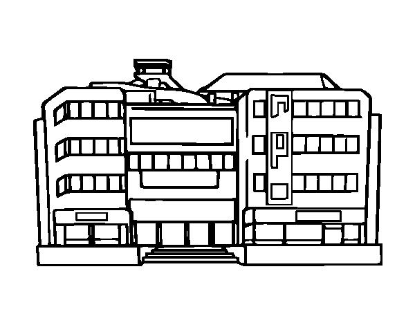 Dibujo de Centro comercial para Colorear - Dibujos.net