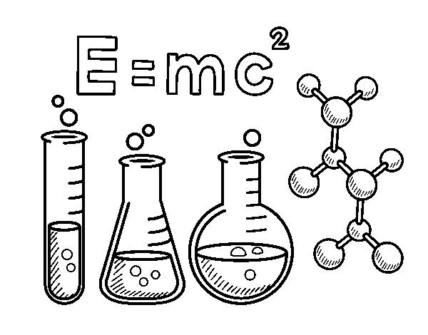 Dibujo De Clase De Química Para Colorear Dibujos Net