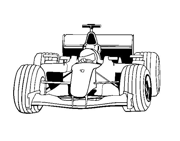 Dibujo de Coche de F1 para Colorear   Dibujos.net