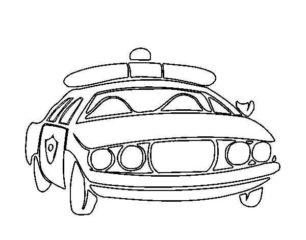 Dibujo de Coche de policía para Colorear - Dibujos.net