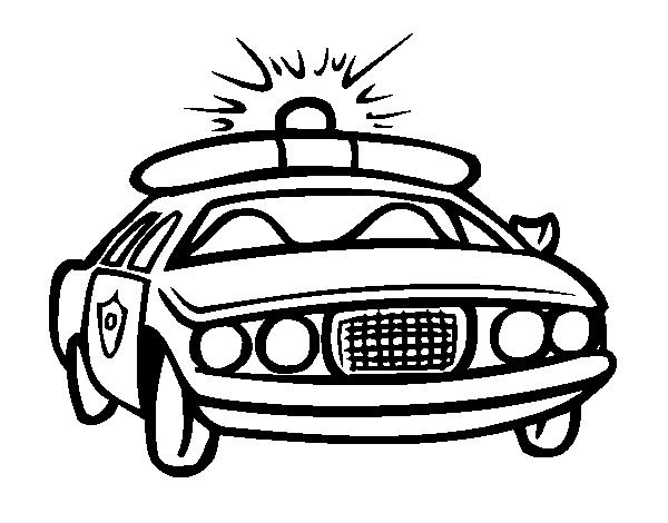 Dibujo De Coche De Policía Para Colorear Dibujosnet