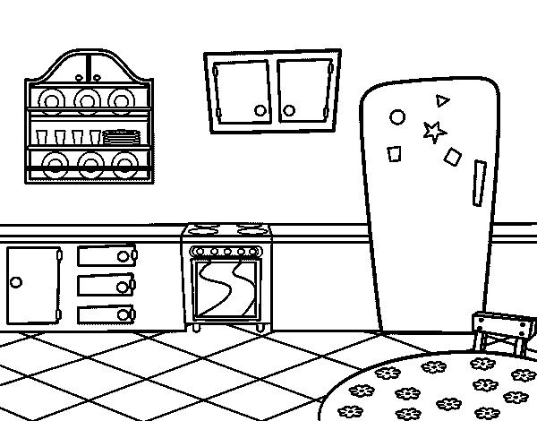 Dibujo De Cocina Office Para Colorear Dibujosnet