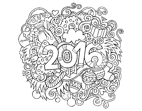Dibujo De Collage 2016 Para Colorear Dibujosnet